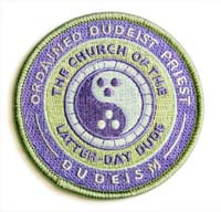 Ordained Dudeist Priest Patch