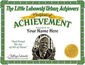 Little Lebowski Urban Acheivers Certificate