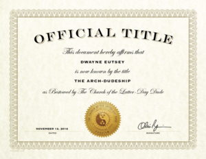 Official Title Certificate