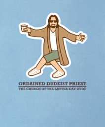 ordained dudeist priest dancing