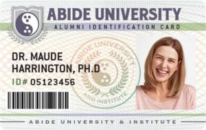 Abide University Alumni ID Card
